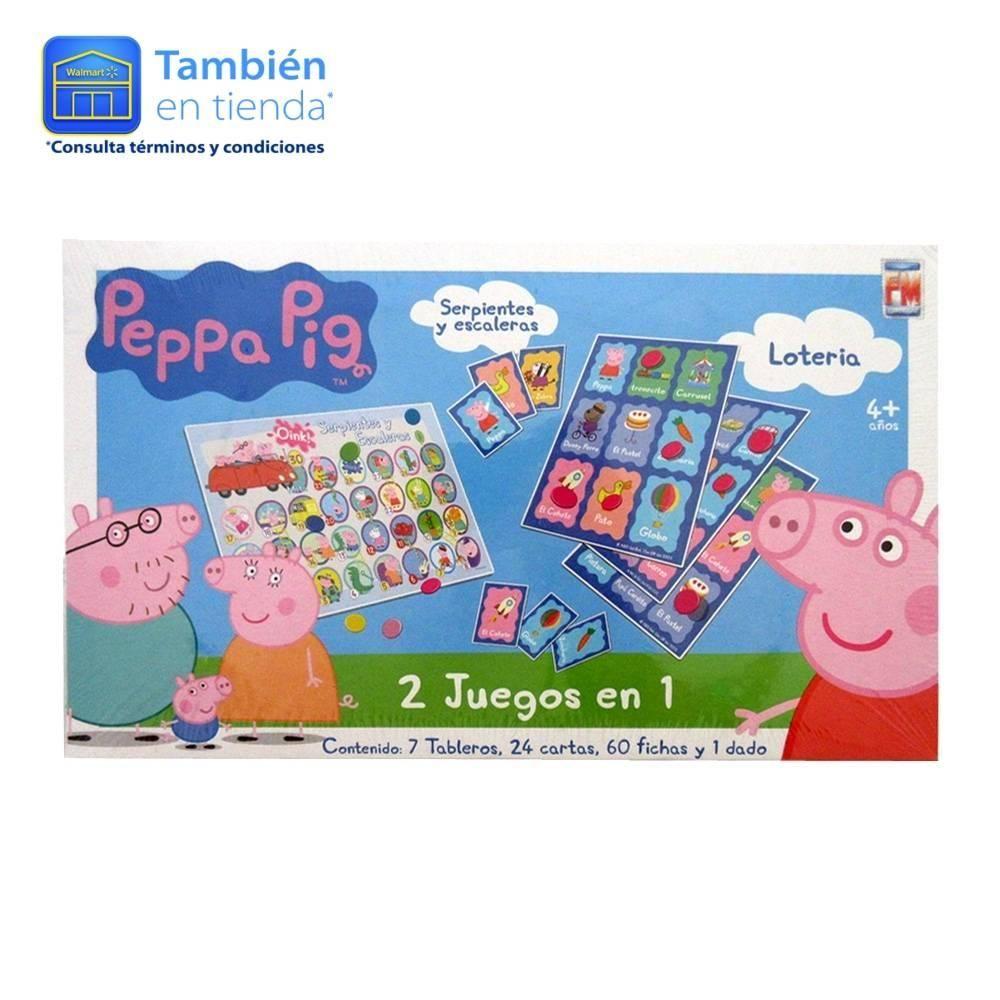 Juego De Mesa Fm Peppa Pig 2 Juegos En 1 Pinterest