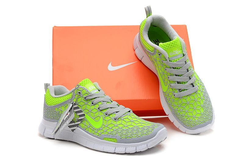 Nike Free 60 Womens Grey Neon Green