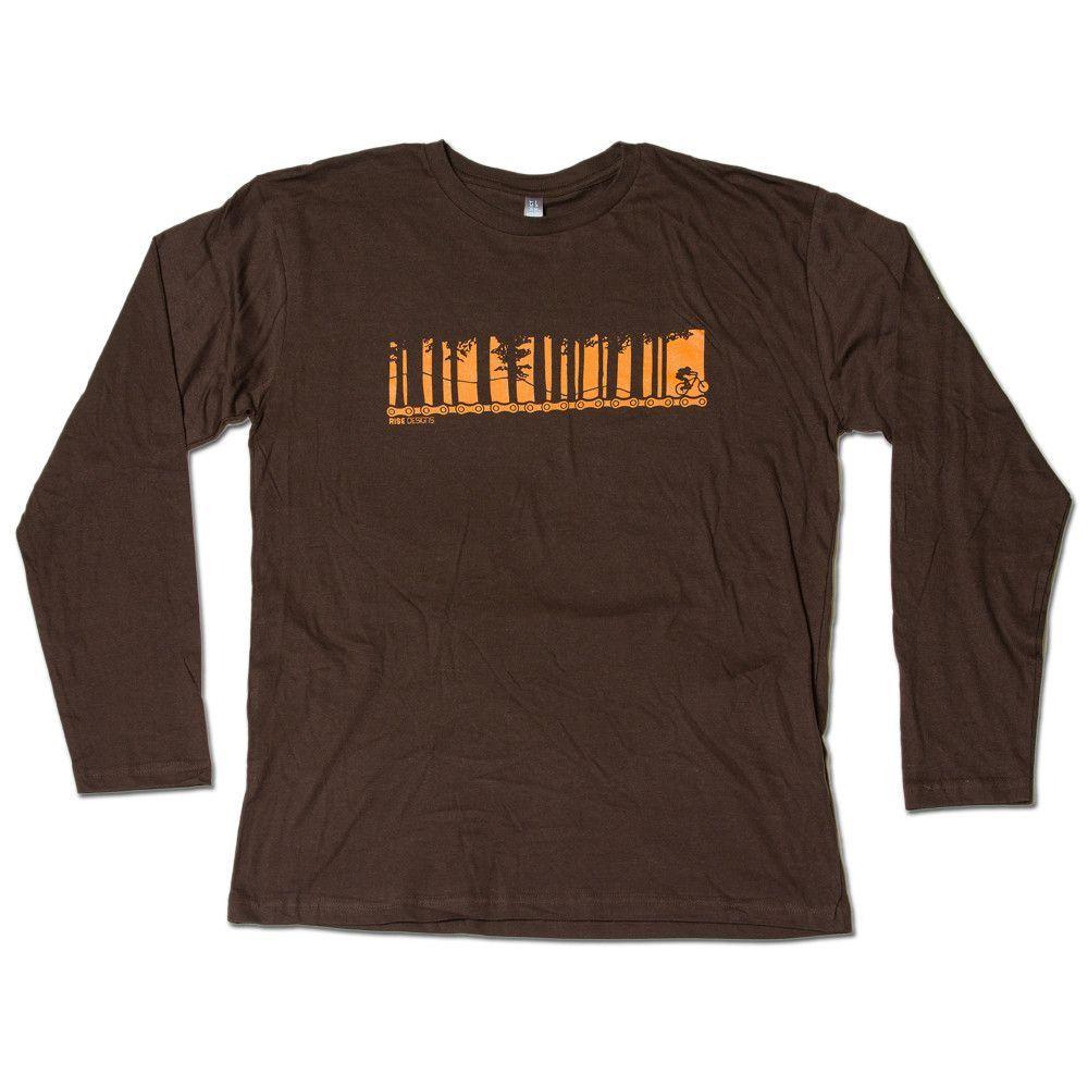 Tahoe Mountain Biker - Longsleeve T-Shirt - Mens - Brown