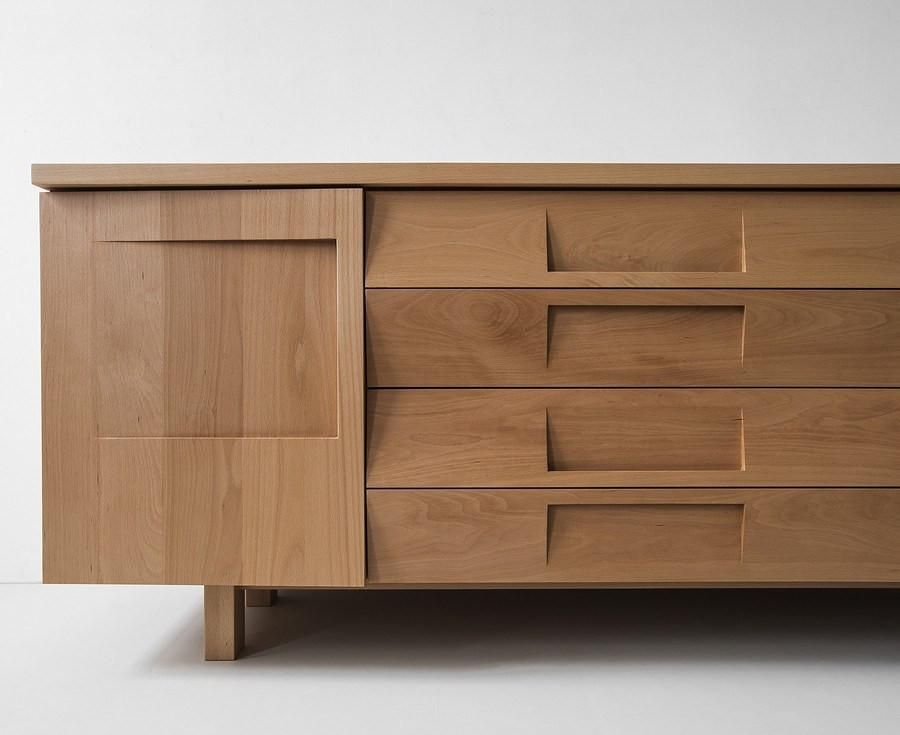 Credenza Contemporary : Dining room with modern wooden credenza accessories black