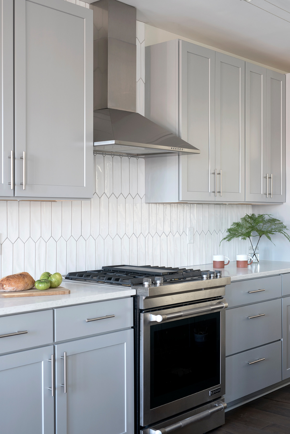 Scandinavian Inspired Condo In Portland Maine Scandinavian Kitchen Portland Maine By Fior In 2020 White Galley Kitchens Galley Kitchens Interior Design Kitchen