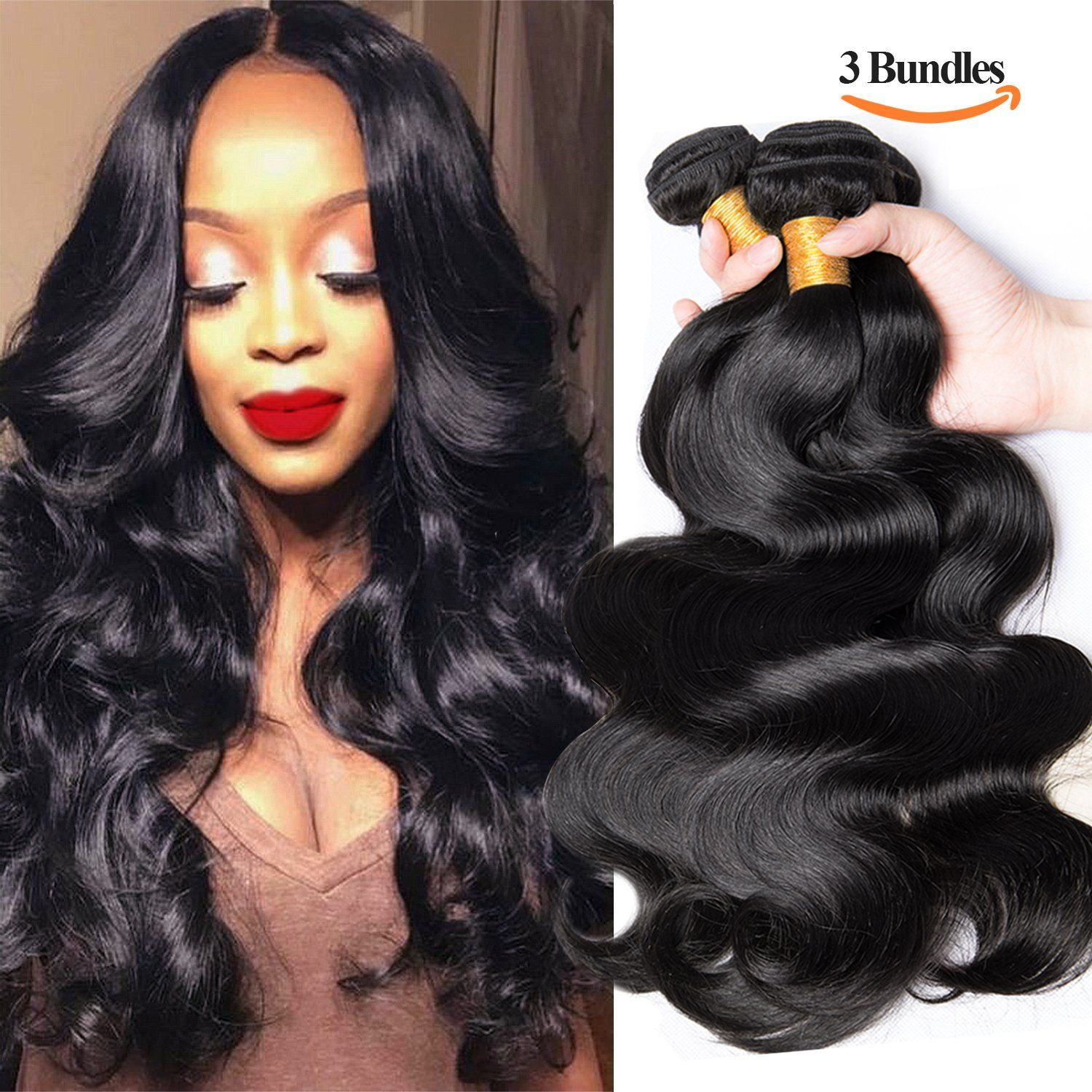 Sexay 100 Brazilian Virgin Human Hair Bundles8a Unprocessed 14 16