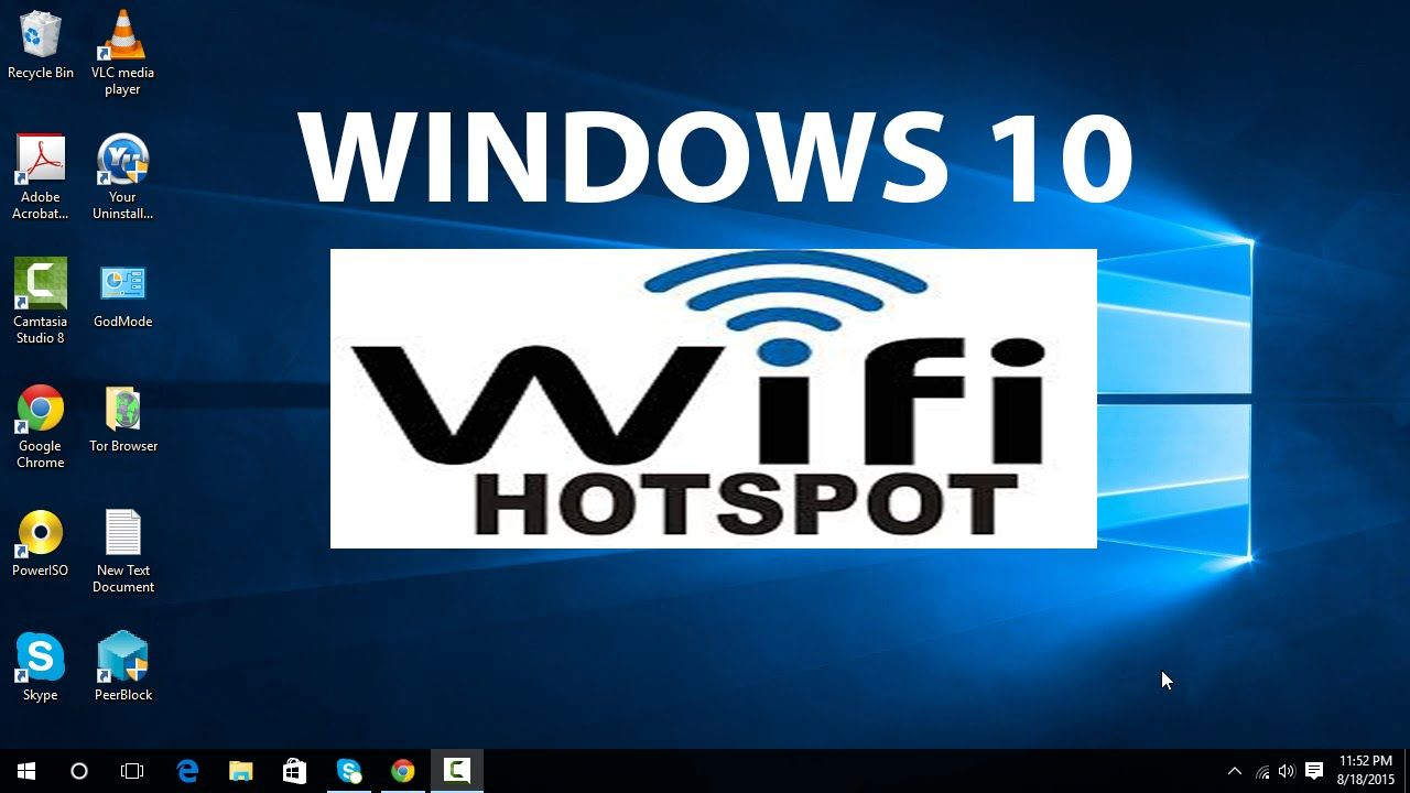 How to turn windows 10 computer into a wifi hotspot