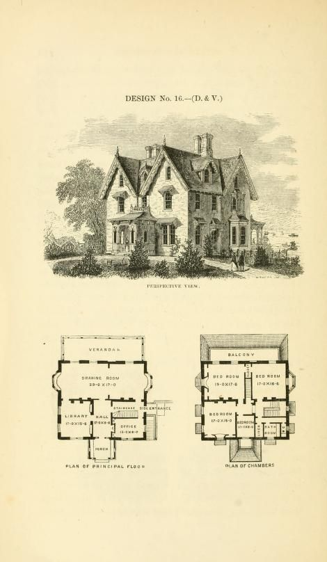Villas And Cottages : A Series Of Designs Prepared For