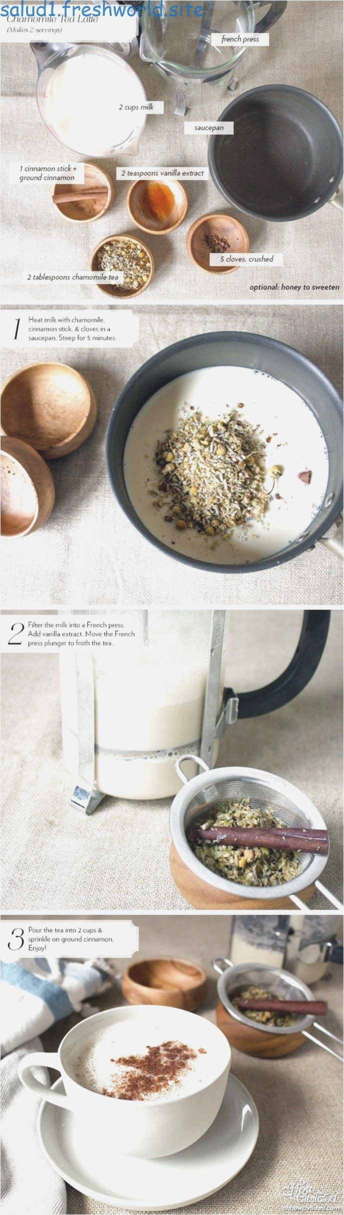 Chamomile Tea Latte - Oh How Civilized click to see more..., Chamomile Tea Latte - Oh How Civilized click to see more...,