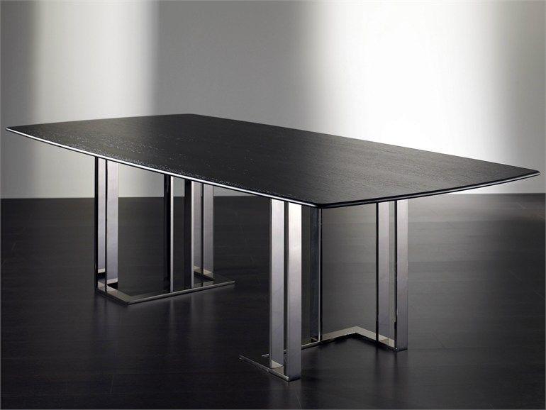 Esszimmer rechteckiger tisch chaplin by meridiani for Tisch design andrea