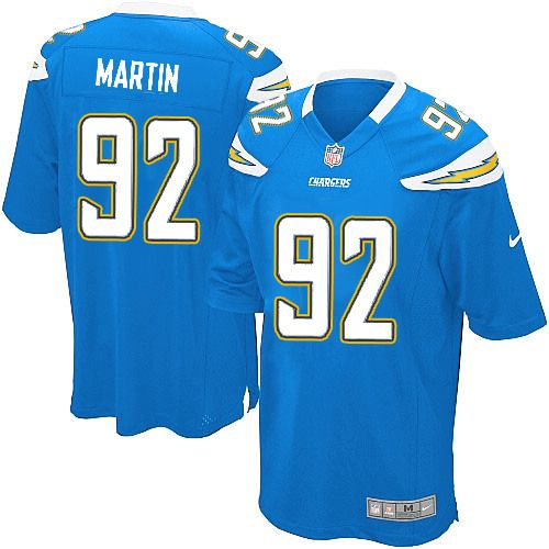 men nike san diego chargers 92 vaughn martin game electric blue alternate nfl jersey sale