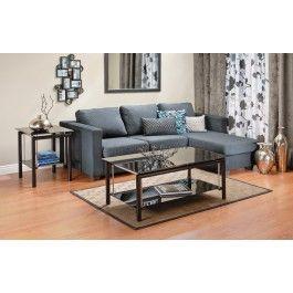 Jysk Ca Kansas Corner Sofa Grey Stripe Living Room Grey