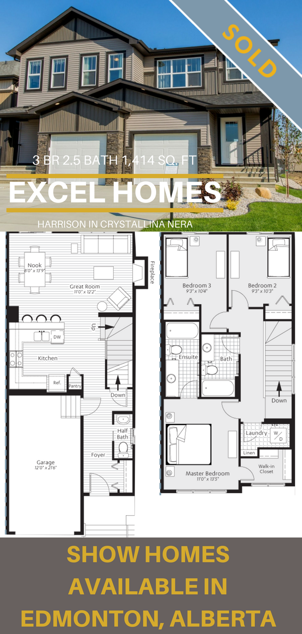 2 Story Floorplans Harrison By Excel Homes In Edmonton Ab Excelhomes Floorplans New Home Builders Home Builders Show Home