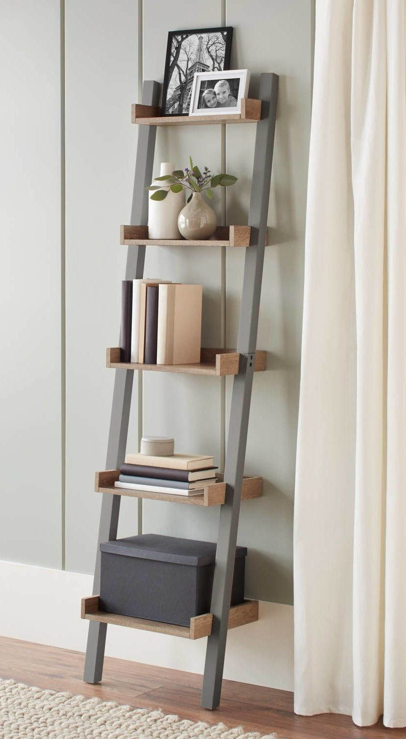 31 Things From Walmart That Every New Homeowner Probably Needs Ladder Shelf Decor Narrow Ladder Shelf Decor