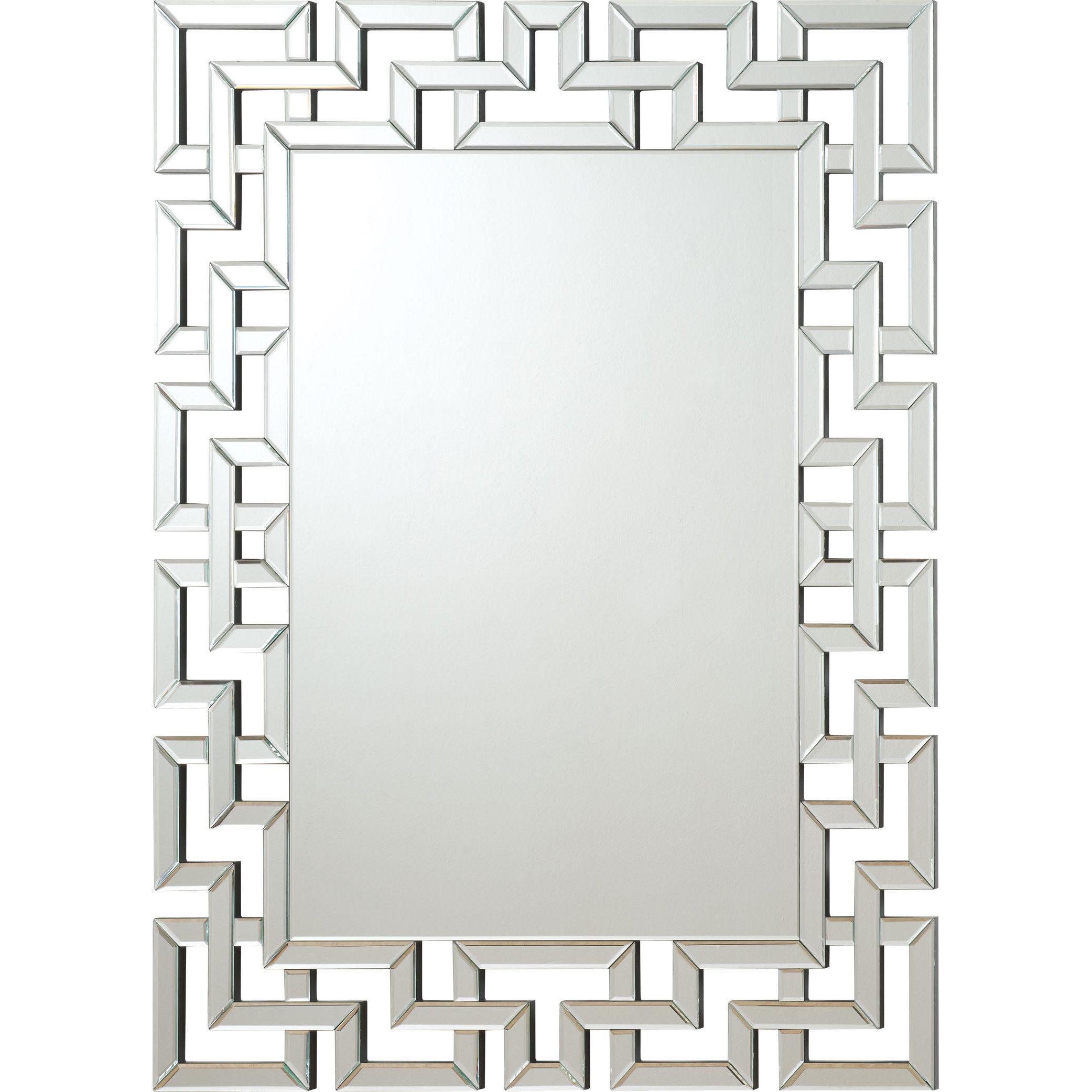 Coaster company greek key silver interlocking frameless mirror coaster company greek key silver interlocking frameless mirror silver jeuxipadfo Choice Image