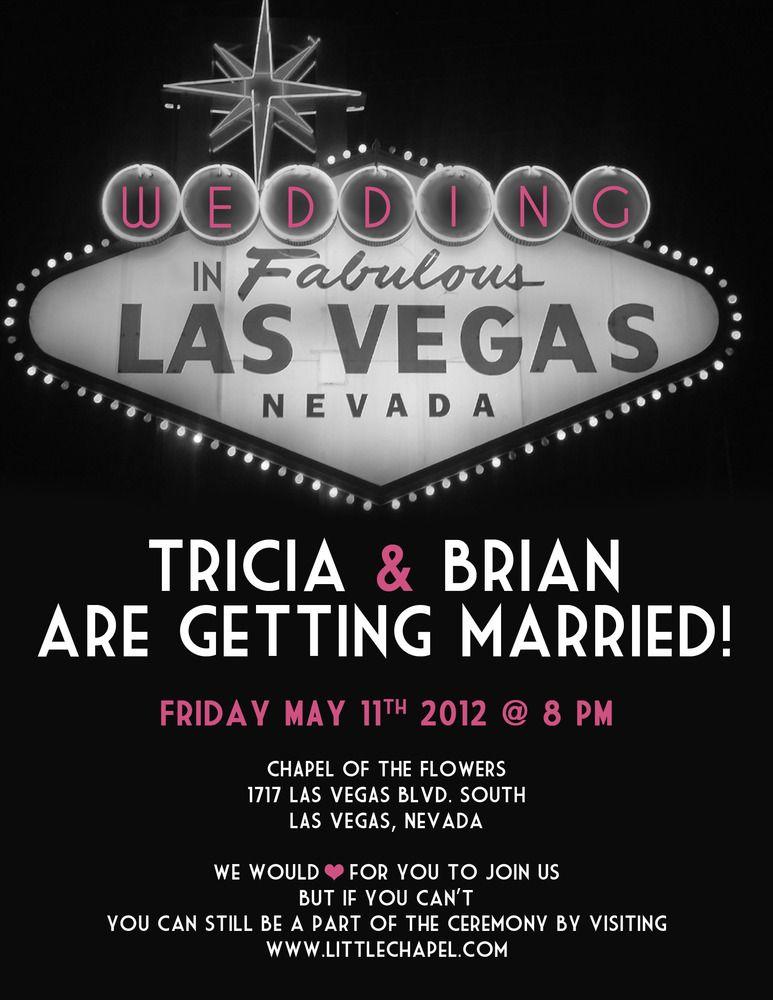 Vegas Wedding Invite Love That It S