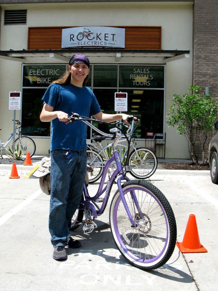 Curtis Is Riding In Style Thanks To Rocket Electrics In Austin Bike Brands Electric Bike Bike