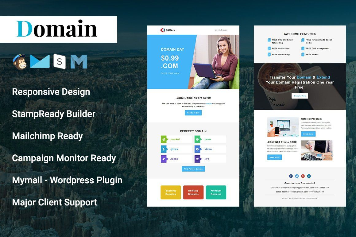 Domain Responsive Email Template Responsive Email Template