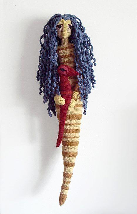 Anya KIEL :: Winifred, art doll sculpted entirely from crochet, 2012