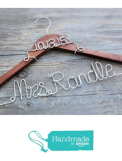 Personalized Bridal Hanger Wire Hanger 2 Lines, Custom Bridal Dress ...