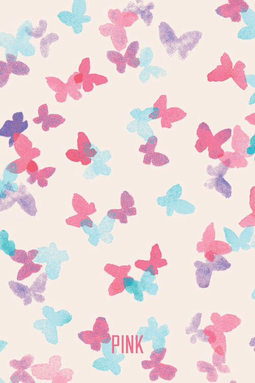 Mixerlittlegirl butterfly pink vs wallpaper on we heart it - Wallpaper voor hoofdeinde ...