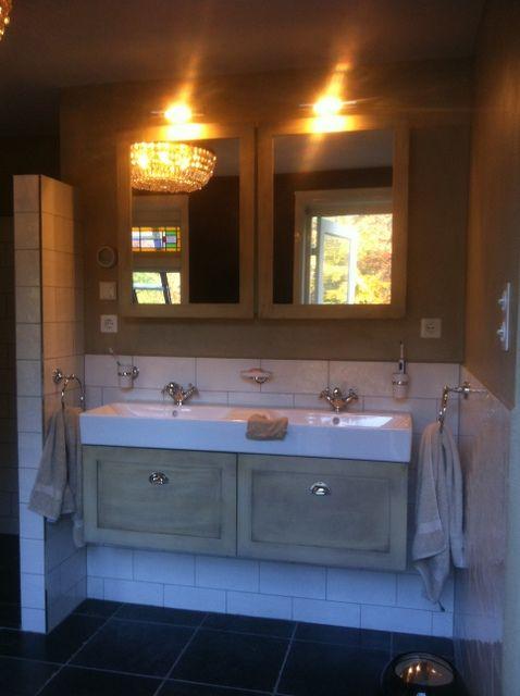 Badkamer Nijverdal. Combinatie tegels en beton-stuc. Nieuwe ...