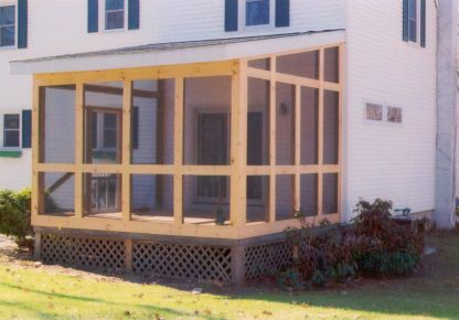 Simple Design House With Porch Porch Design Screened In Patio