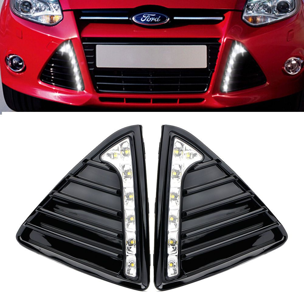 For 2012 2014 Ford Focus Fog Driving Lamp Cover Grille Drl Daytime Running Light Automotive Parts Accessories Car Ford Focus Accessories Ford Focus Ford