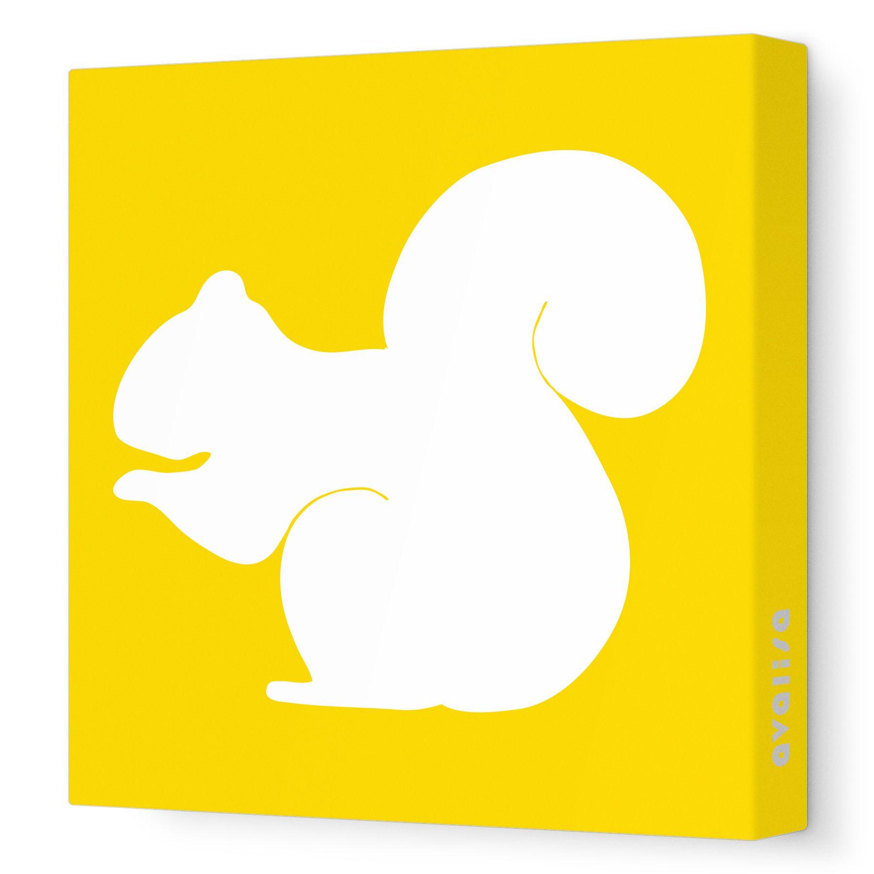Yellow Squirrel Silhouette - Animal Silhouette - Avalisa.com ...