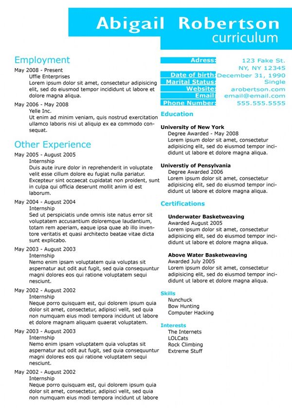 25 Creative Examples Of Free Resumes PSD resumes Pinterest - free resumes