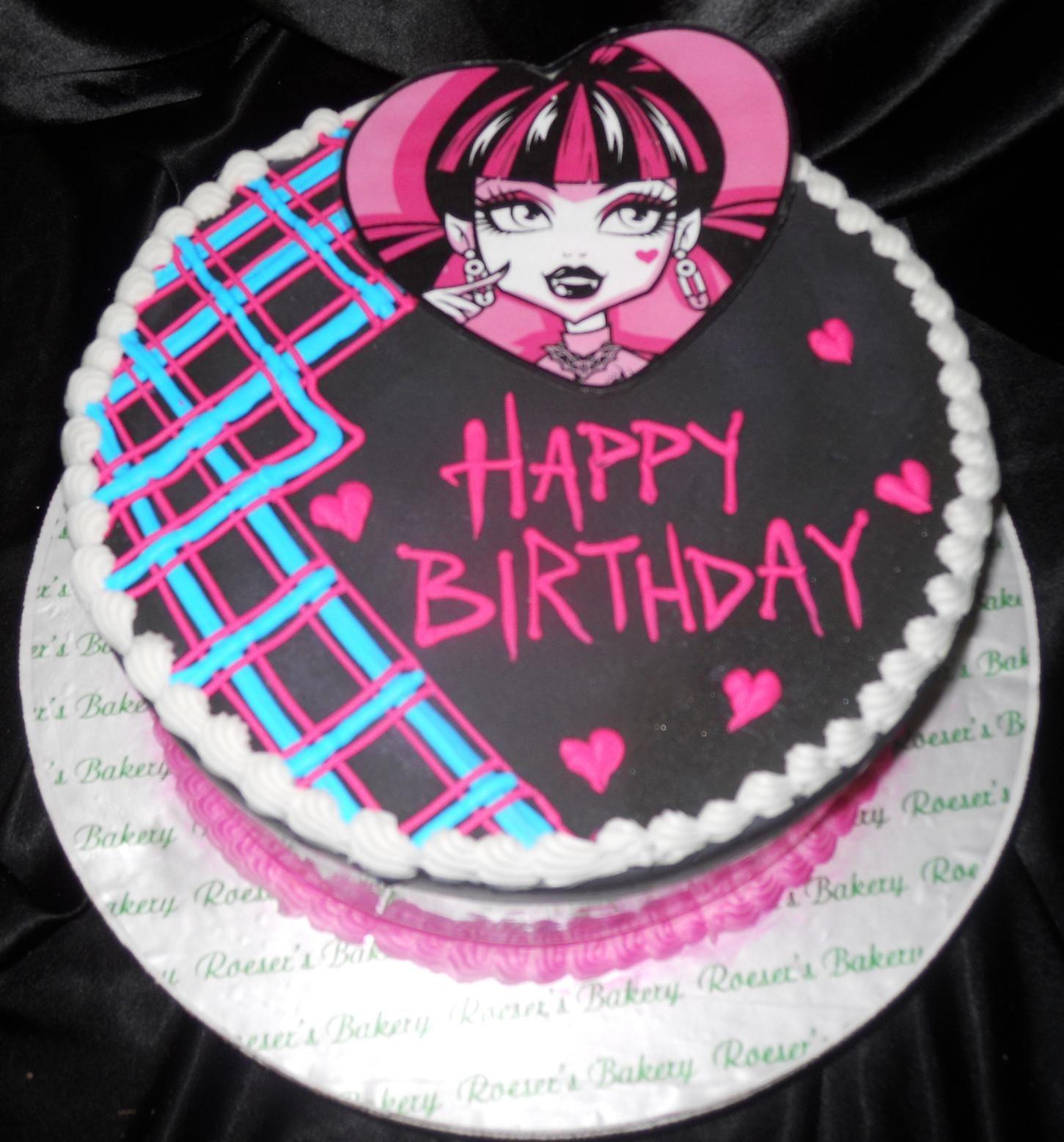 Monster High Birthday Cakes Roeser S Bakery Of Chicago