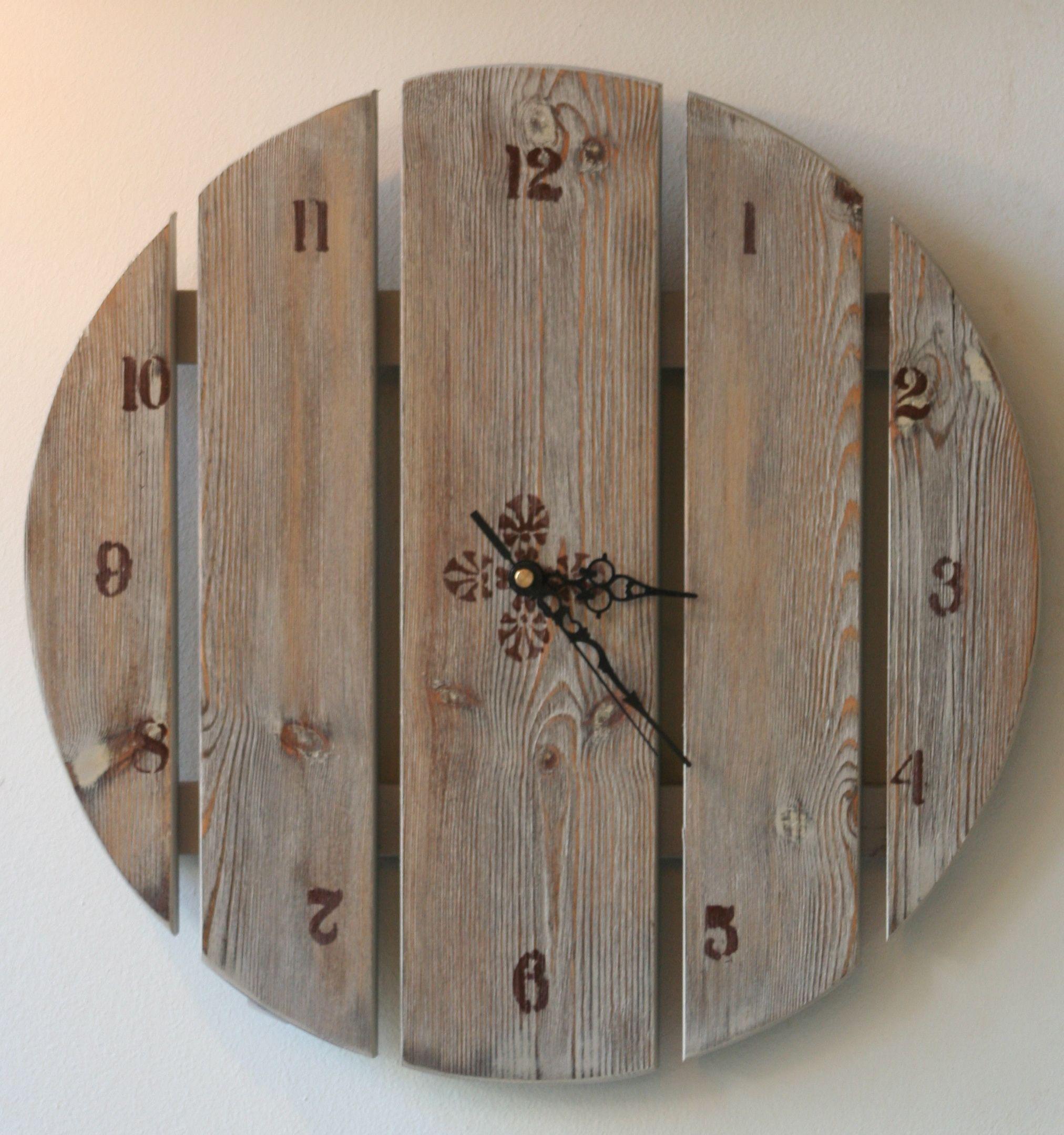 Handmade wooden clock Large Wall