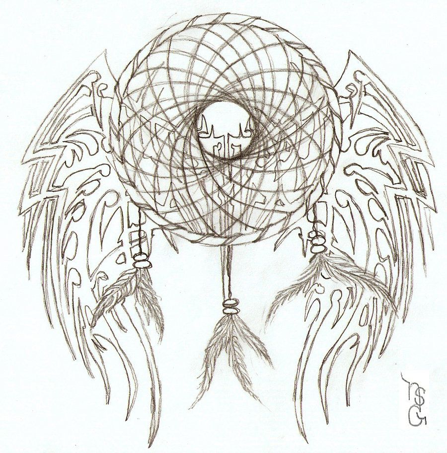 Coloring pages dream catchers - Popular Drawing Designs Tribal Dream Catcher By Ndawggunner On Deviantart