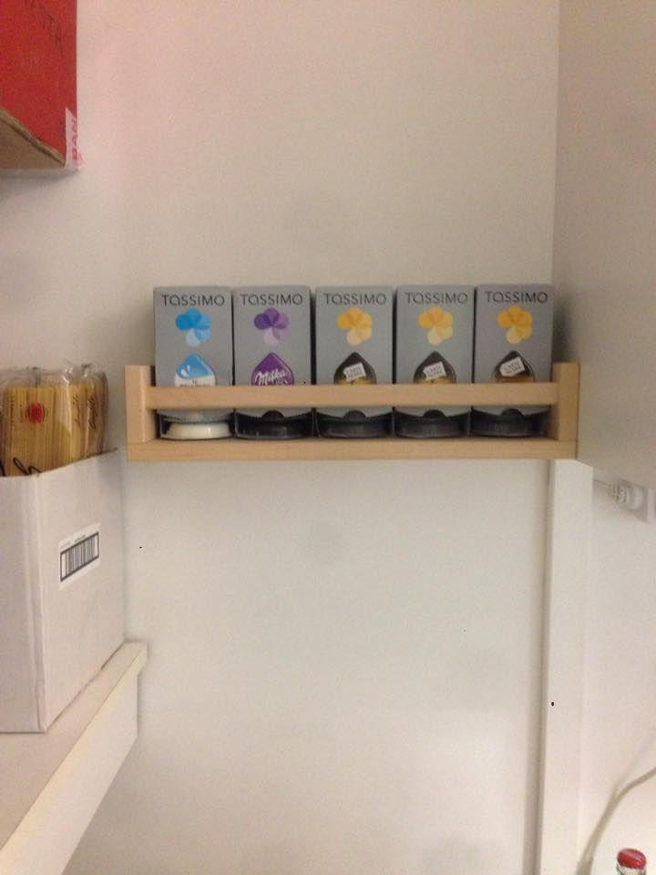 une tag re capsule tassimo pour 3 5 bidouilles ikea pinterest bekvam ikea et ikea hack. Black Bedroom Furniture Sets. Home Design Ideas