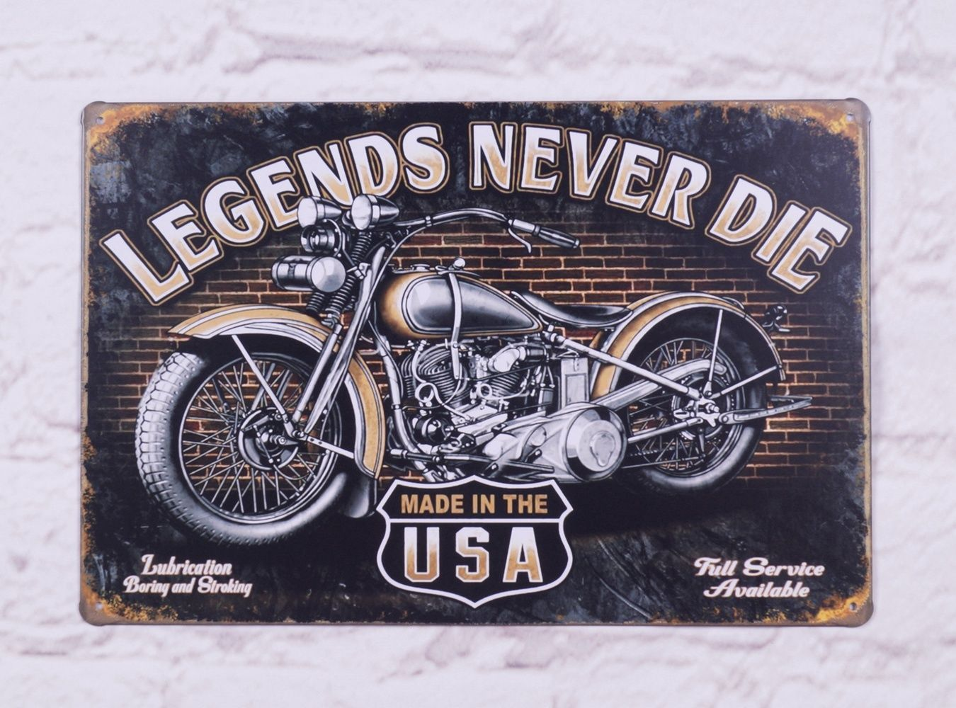 Retro Indian Motorcycle Vintage Metal Tin Signs Home Pub Bar Wall Decor  Poster $1.8