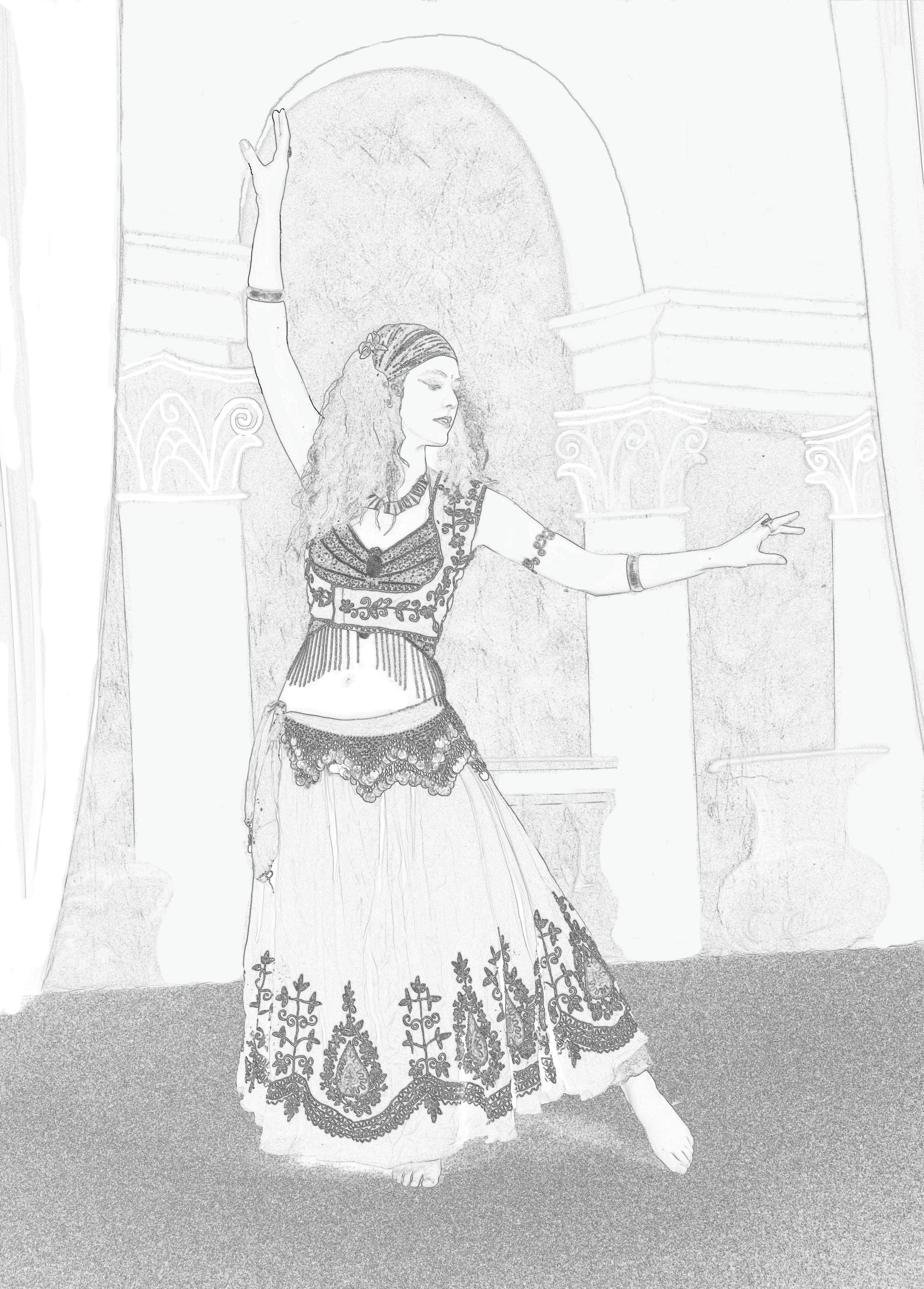 belly dancers coloring pages colour in belly dancer color