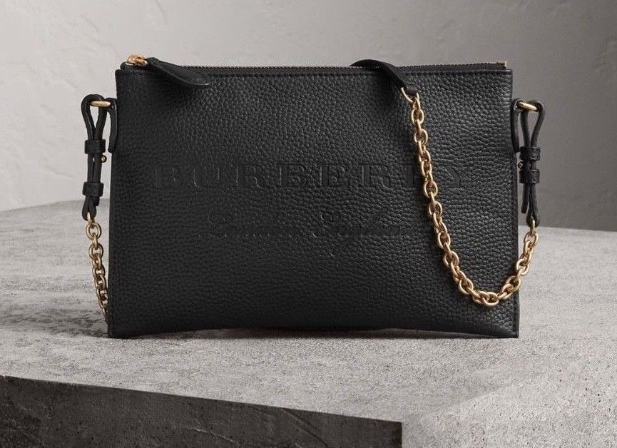 NWT Burberry London England Small Wristlet Peyton Leather Crossbody Bag  437167670f40f