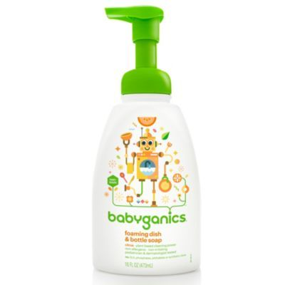Babyganics 16 Oz Citrus Foaming Dish Bottle Soap Clear
