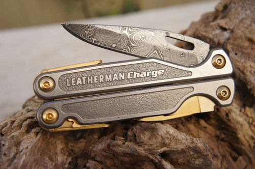 Leatherman Charge Tti Multi Tool 24k Gold Series Damascus