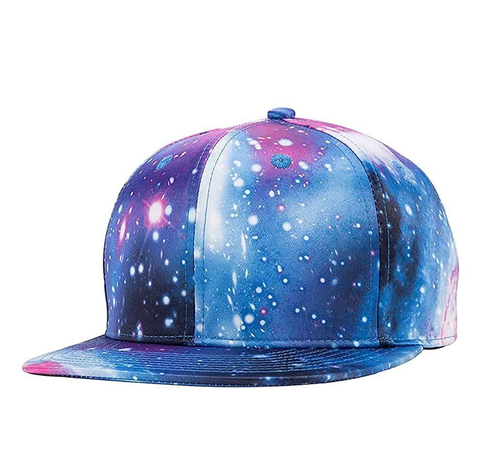 cc083fcf Quanhaigou Purple Galaxy Snapback Hat Unisex Trucker Hat Hip Hop ...
