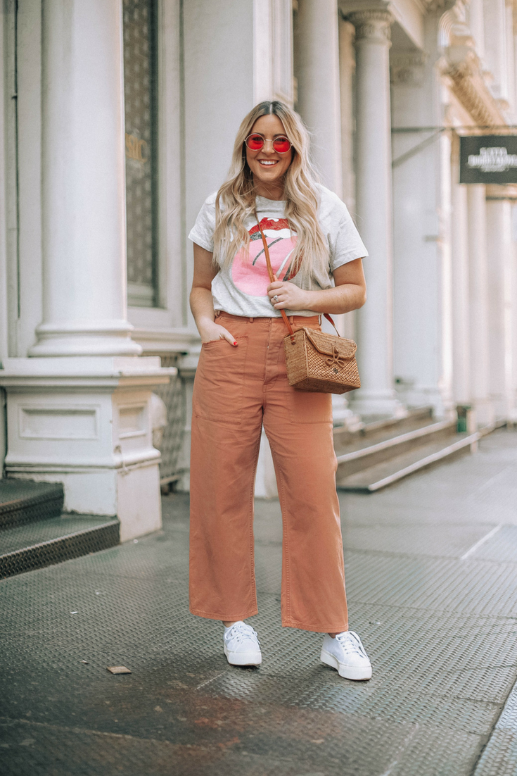 Style blogger Danielle Gervino wears Madewell + H&M in ...