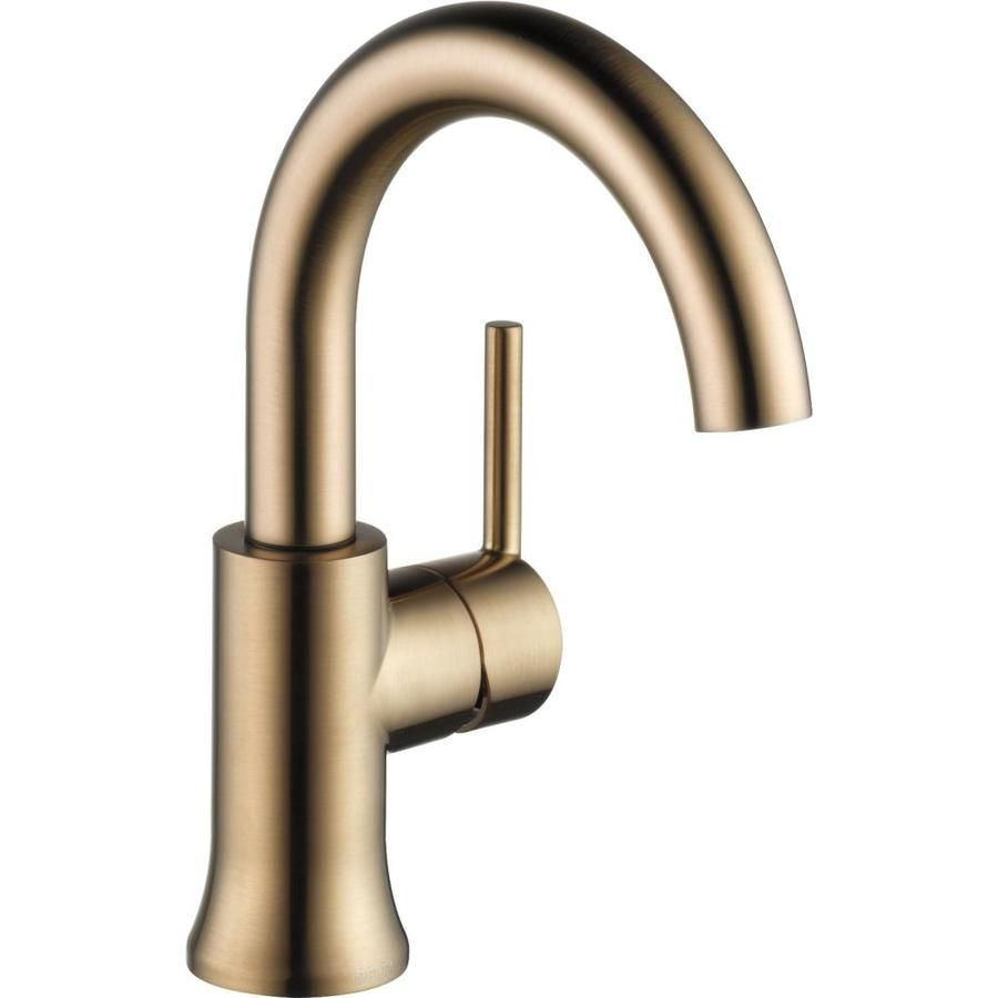 Exceptionnel Delta Trinsic Champagne Bronze 1 Handle 4 In Centerset WaterSense Bathroom  Faucet. Spout