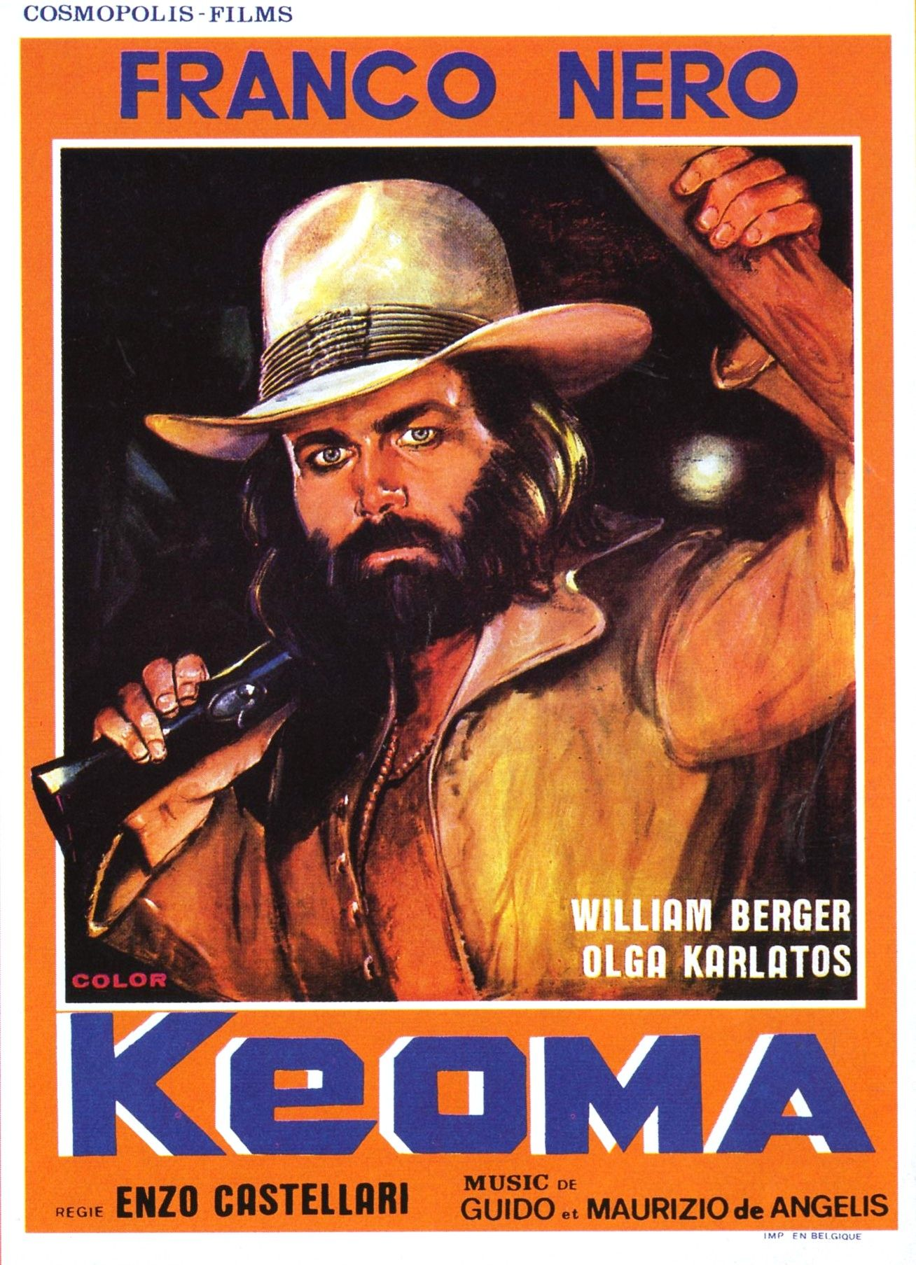 Keoma (1976) Dir: Enzo G. Castellari. Franco Nero, com peruca e visual ao estilo Woodstock, é Keoma, um mestiço ex-soldado da União. Ele volta da Guerra e encontra sua cidade dominada por um ex-Confederado que criou um campo de concentração para isolar vítimas da peste. Seus três meio-irmãos, todos racistas, apoiam o Confederado. Um dos melhores spaghetti western, kitsch, cheio de ação, criativo nos flashbacks, com fortes ideias visuais e uma trilha sonora marcante cantada por Sybil & Guy.