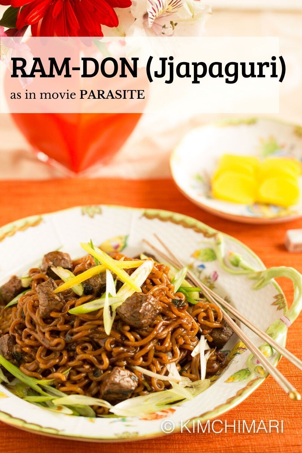 #Instant #Jjapaguri #Noodles #RamDon Ram-Don (aka Jjapaguri) is made with Jjapagetti and Neoguri noodles, It's yummy chewy noodles in a Jjajang sauce that has a hint of spicy. This dish appears in the movie Parasite. #ramenrecipes #instantnoodles #movieparasite