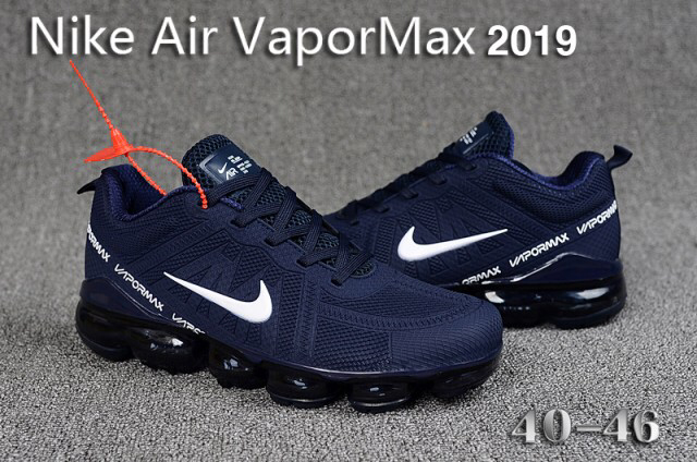 Mens Winter Nike Air VaporMax 2019 Sneakers Navy blue white