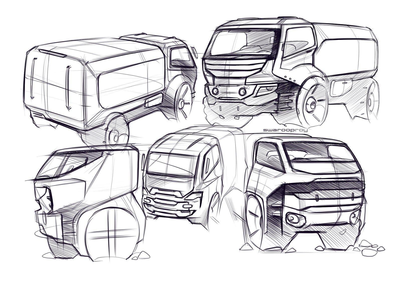 truck sketches by Swaroop Roy | DESIGN SKETCHES | Pinterest | Zeichnen