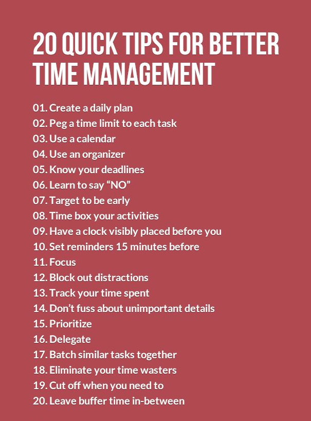 Time Management is a Habit. Here are some tips to help you form the proper time management habits. If you find these helpful, you should try our Agendas, they're designed to not only improve your Time Management skills but also your 21st Century Life Skills.