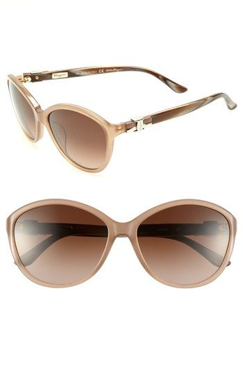 1da33367629 Salvatore Ferragamo 58mm Oversized Sunglasses available at  Nordstrom