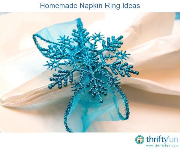 Homemade Napkin Ring Ideas