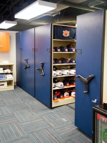Baseball Equipment Storage At Auburn University