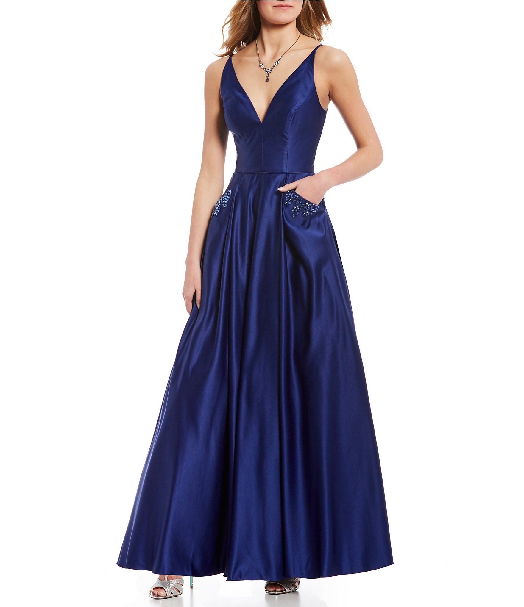 8598c780972 Shop for Blondie Nites V-Neck Jeweled-Pocket Ball Gown at Dillards.com.  Visit Dillards.com to find clothing