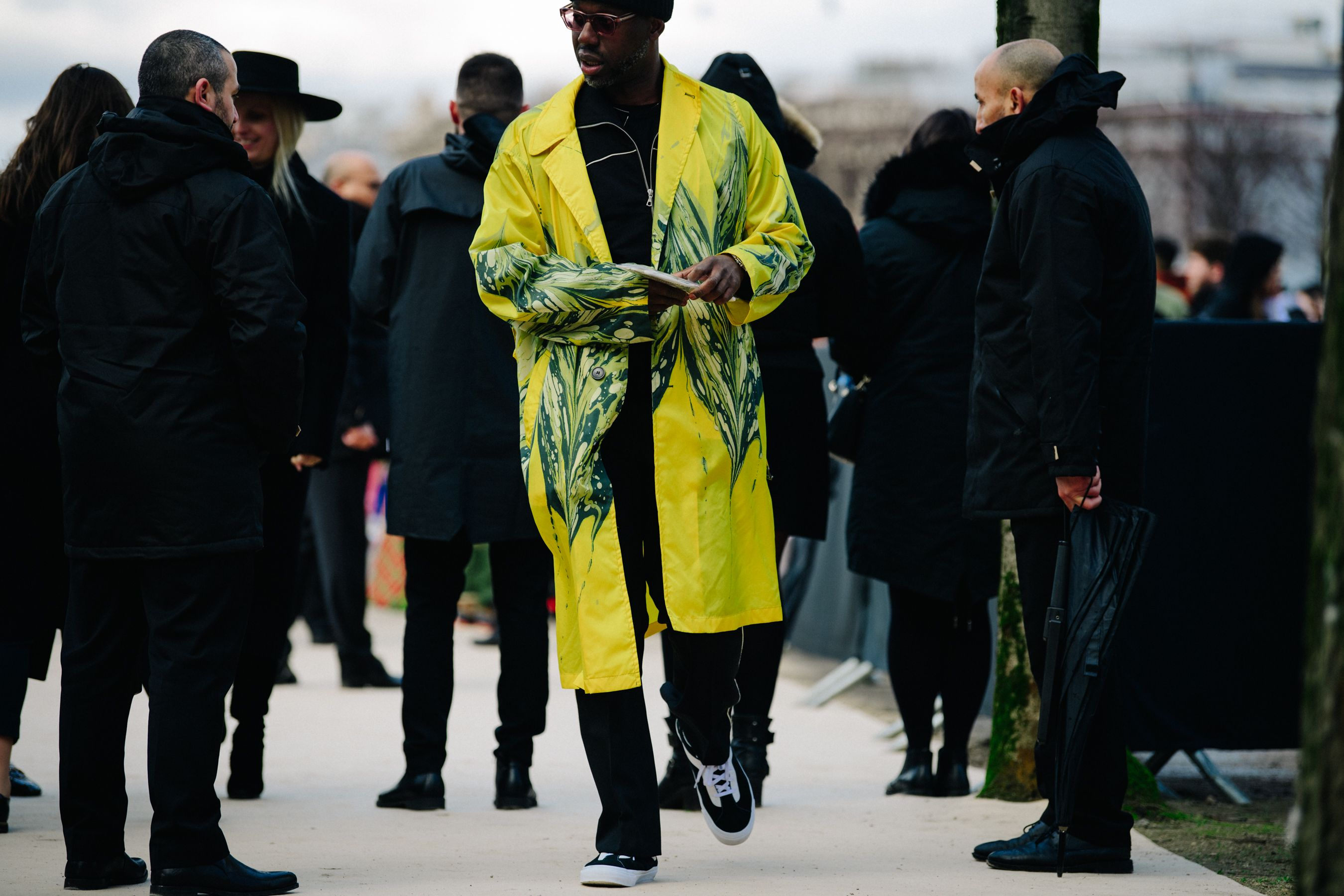 Man Wearing Yellow Coat Marcus Paul Paris