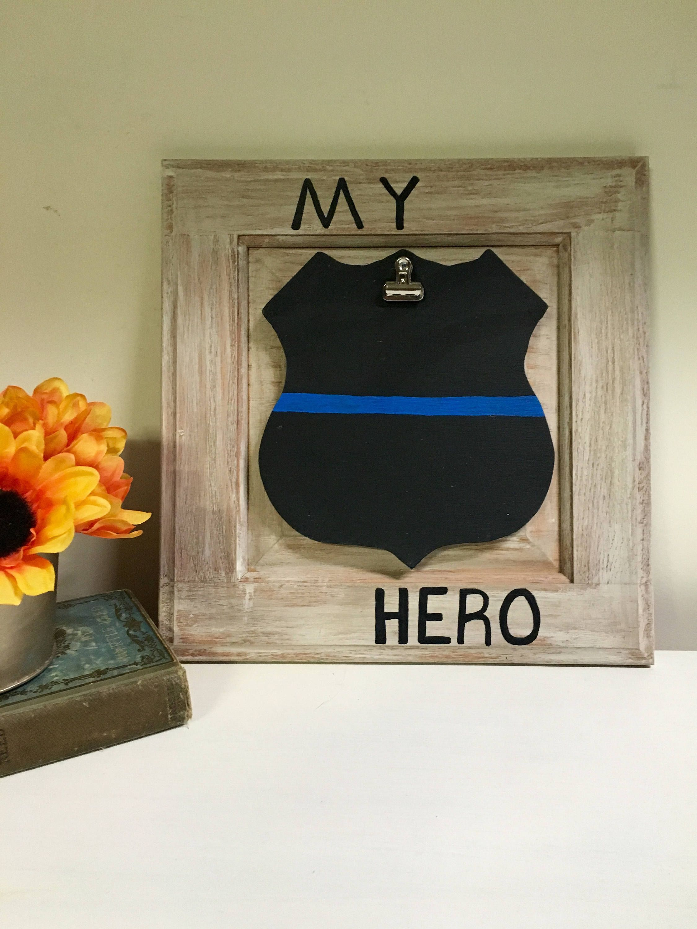 Police officer policeman fathers day gift for husband or dad police officer policeman fathers day gift for husband or dad picture frame with wood badge jeuxipadfo Choice Image