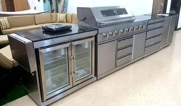 5 Piece Modular Bbq Grill Island Outdoor Kitchen With Wine Cooler Sink In 2020 Outdoor Kitchen Modular Outdoor Kitchens Grill Island